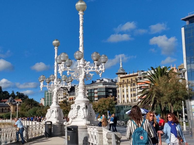 Ornate lampposts - foreshore San Sebastian