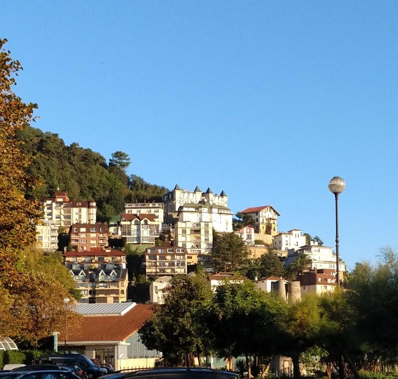 Homes at the western end of La Concha Bay - San Sebastian