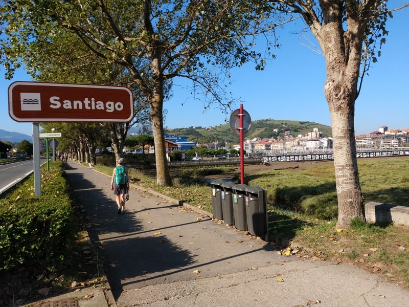 No we're not in Santiago! Just the name of a little stream that runs into the harbour in Zumeia