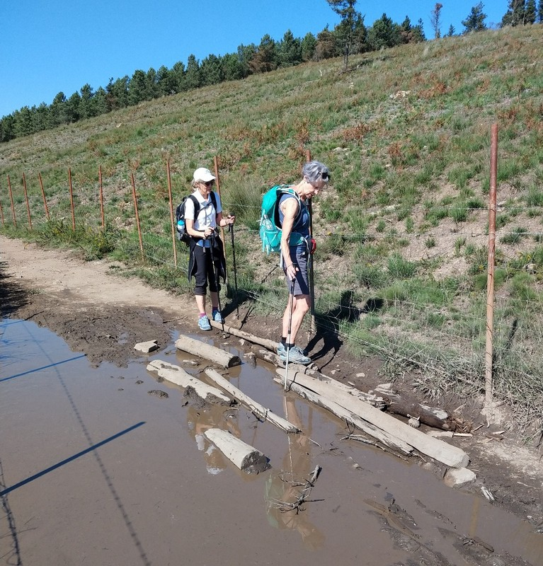 Dodging muddy spots - Glynis and Leanne (from QLD)