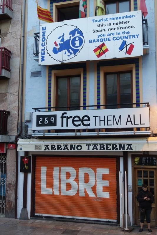 Basque independence signs - Zarautz