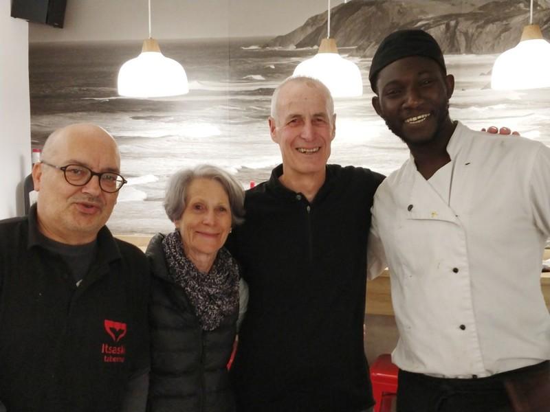 Sengalese chef and barman Richard in Zarautz