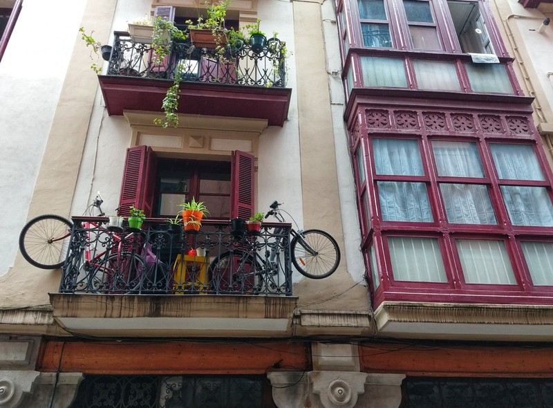 In a small apartment, bikes have to stay somewhere