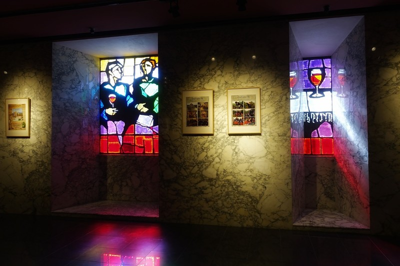 Coloured glass artwork - Ontanon winery