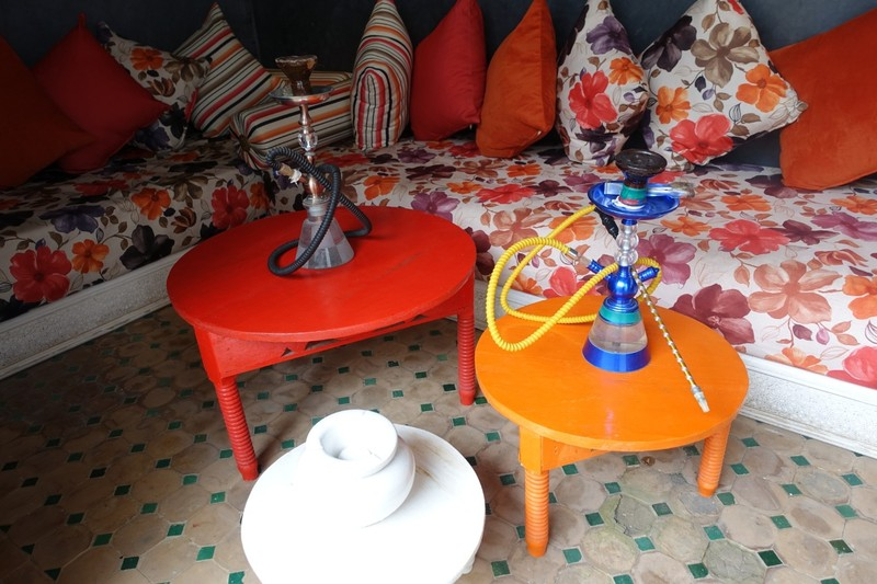 Hookah smoking alcove - Riad in Fez