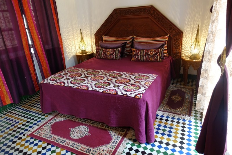 Riad (Hotel) bedroom - Fez