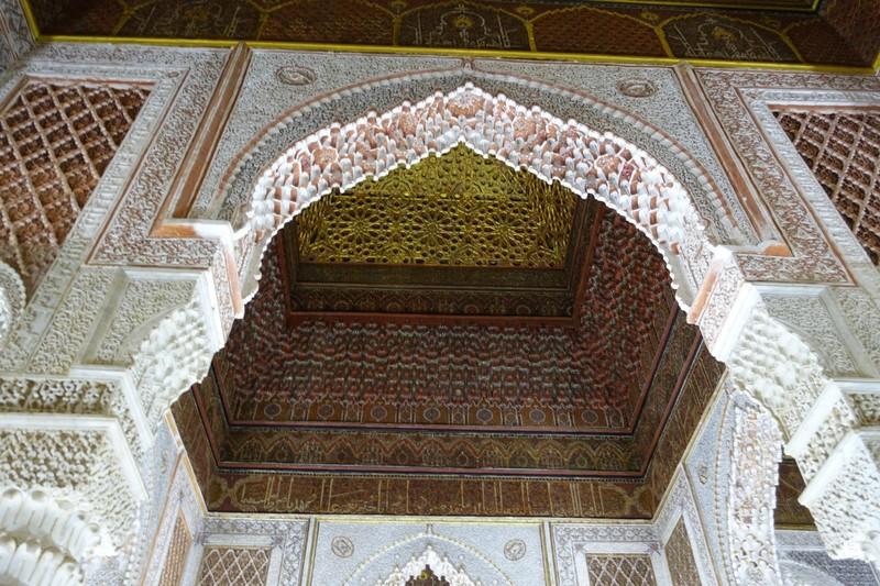 Ornate work in Saadian Tomb