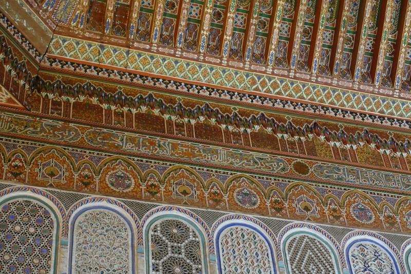 Wall and ceiling art - Bahia Palace