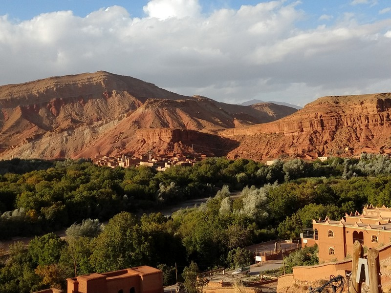 Berber village - Boutaghrare - old town opposite, new town this side - view from Kasbah window