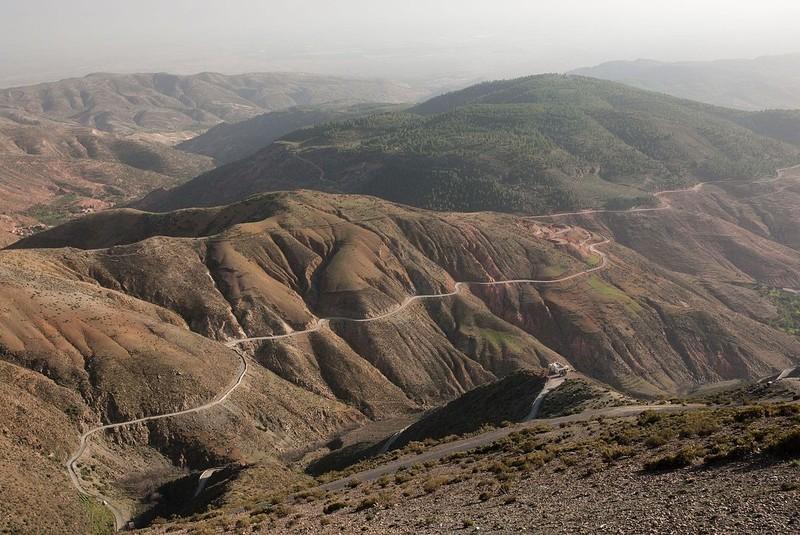Tichka Pass - through High Atlas Mountains