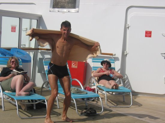 Towel man