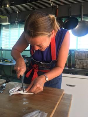 Filleting a fish