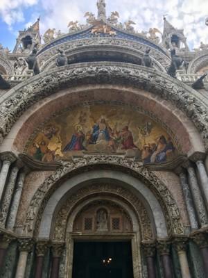 Entrance to St Mark's Basilica