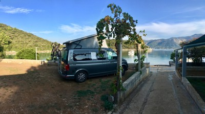 Camping by the sea at Korčula