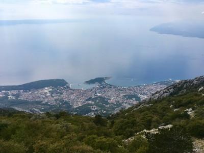 Looking down on Makarska