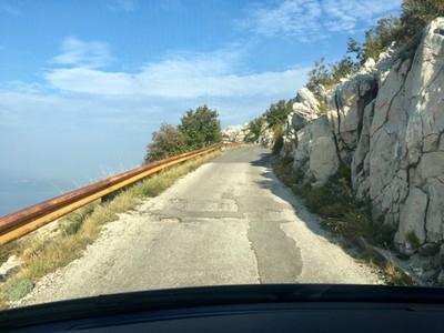 Treacherous road in Biokovo Nature Park