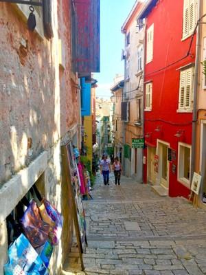 Grisia Street in Rovinj