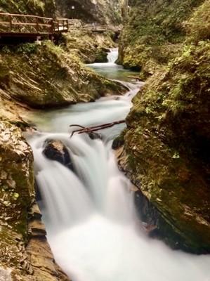 Waterfalls in Vintgar Gorge