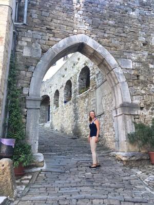 Climbing the hill to Motovun