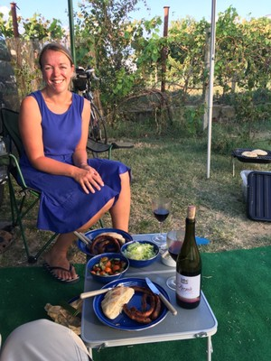 BBQ with Bulgarian wine