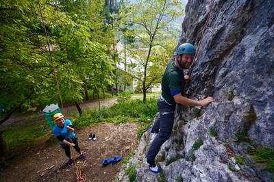 Starting a climb