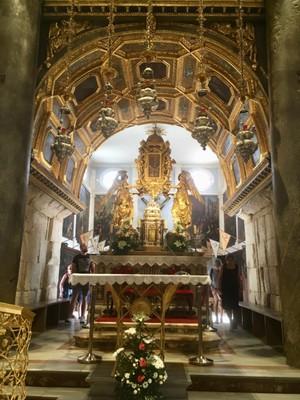 Inside Split cathedral