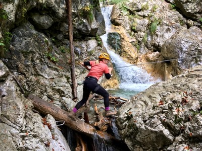 Jumping across the gorge