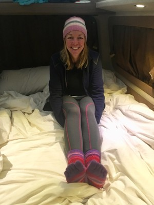 Dressed for bed in the mountains!