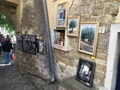 Public art exhibition in Grožnjan