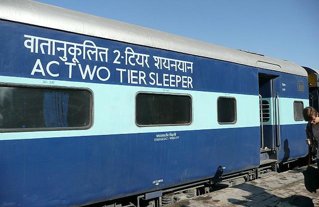 Our train car to Jaisalmer