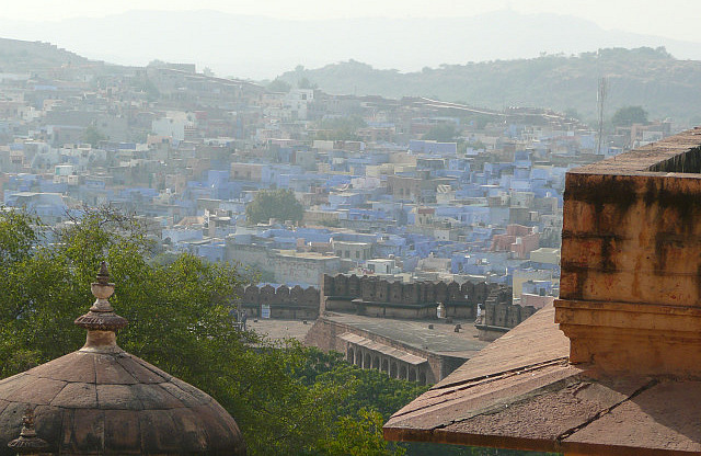 The blue city from the fort