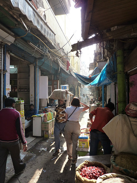 Typical street in old Delhi