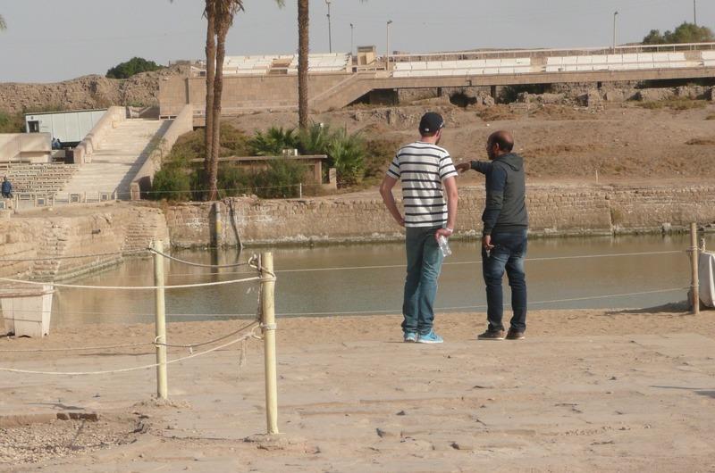 The lake inside Karnak