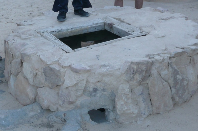 One of the wells in the desert