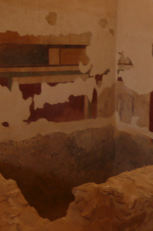 Frescos in the bath house