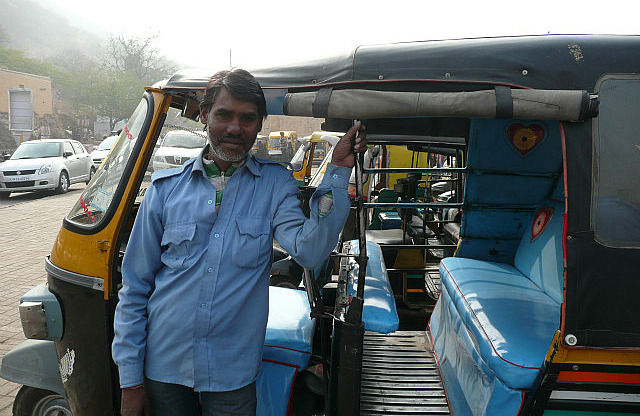 Our rickshaw driver for the day
