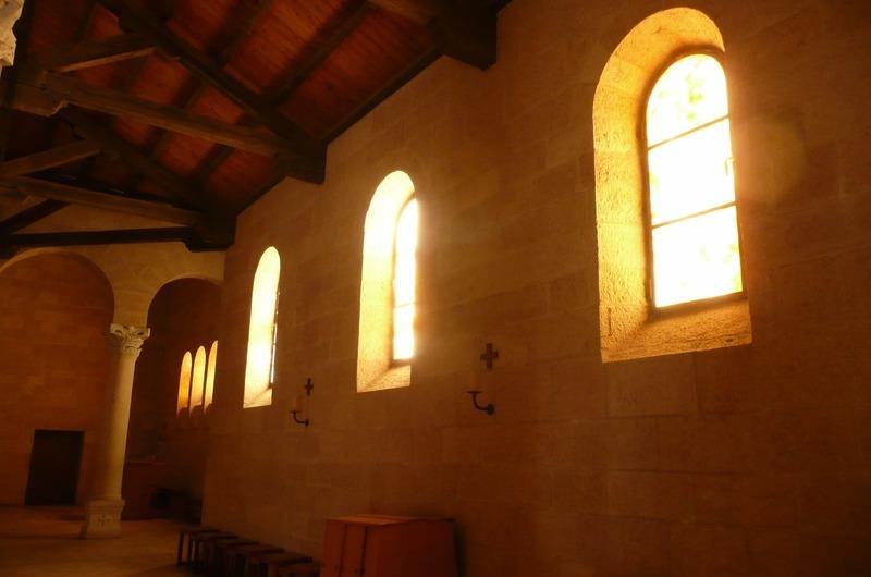 Inside Tabgha - Byzantine church