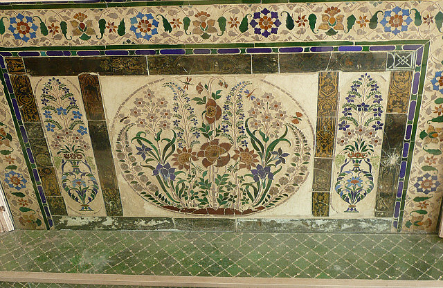 Mosaics are everywhere throughout the palace