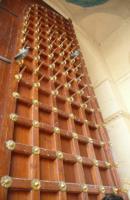 Main entry gate to the palace complete with spikes