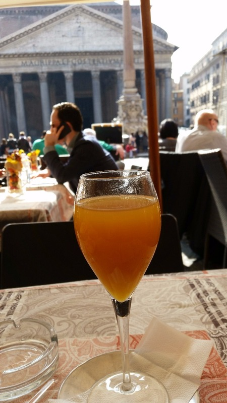 Prosecco Bellini and The Pantheon