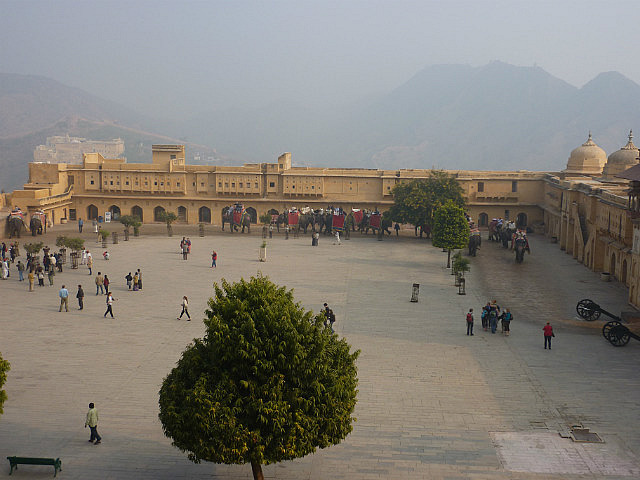 The main courtyard at Amber Fort