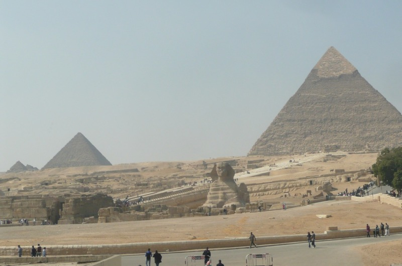 Another view of the three largest pyramids
