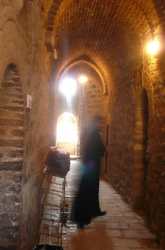 Inside the tower area
