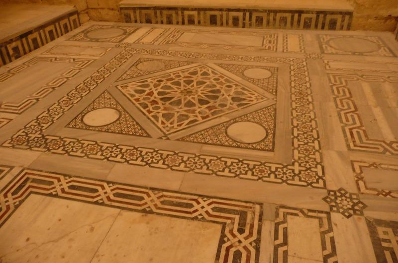 Mosaic floor in the mosque