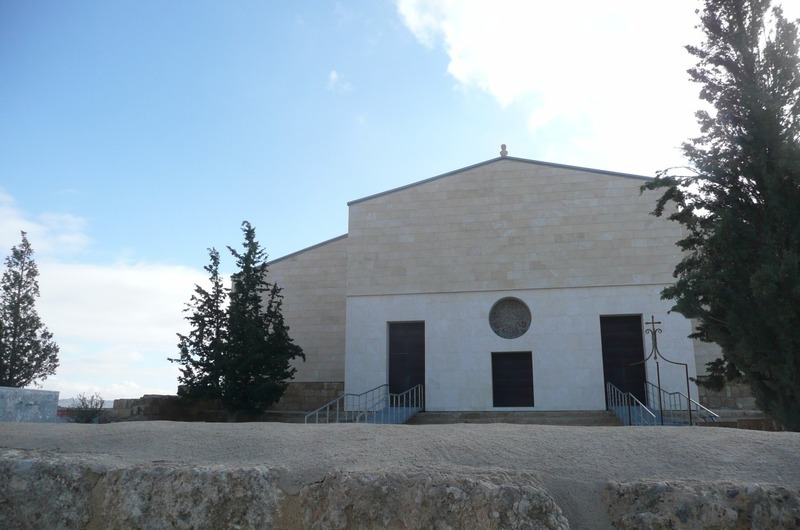 The new church at Mt.Nebo