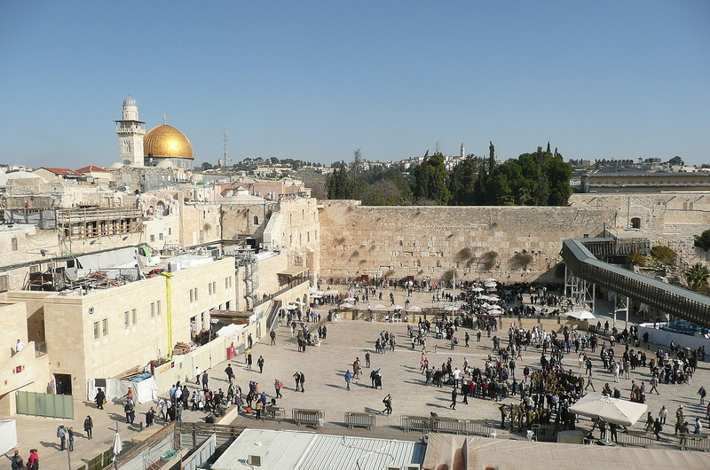 View of Jerusalem from Old City rooftop area