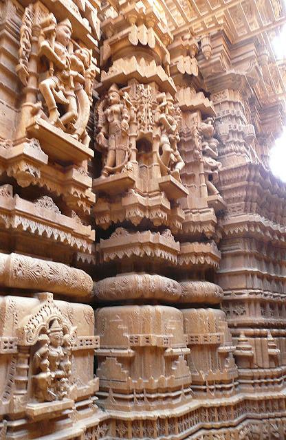 Jain temple - interior carving