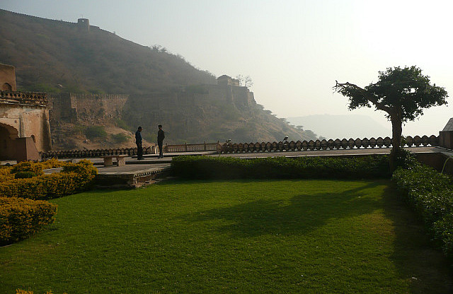 View ofthe old fort from rooftop garden