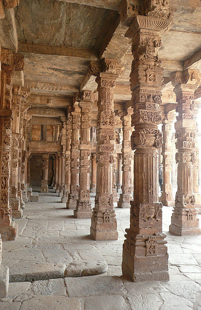 Incredible carved columns