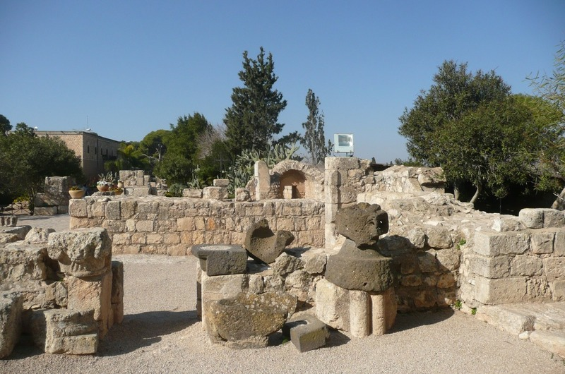 Gardens and ruins at Mount of Beatitudes